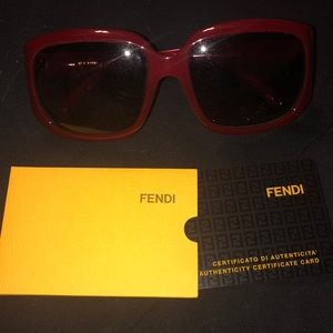 a6783e0e0be Authentic Red Square Fendi Sunglasses